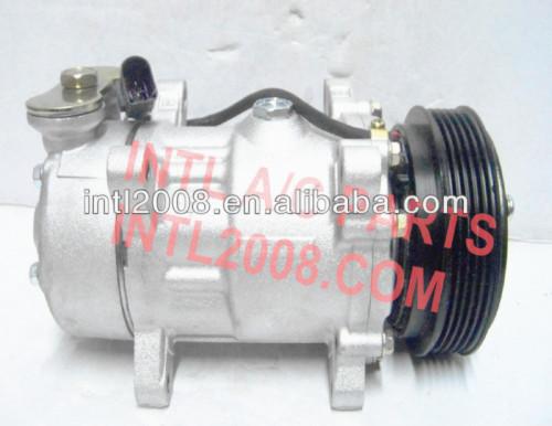 7v16 sanden compressor ac para peugeot 206 306 406 806 c5 citroen xantia xsara berlingo 9640486480 9613260680 6453ey 6453fe