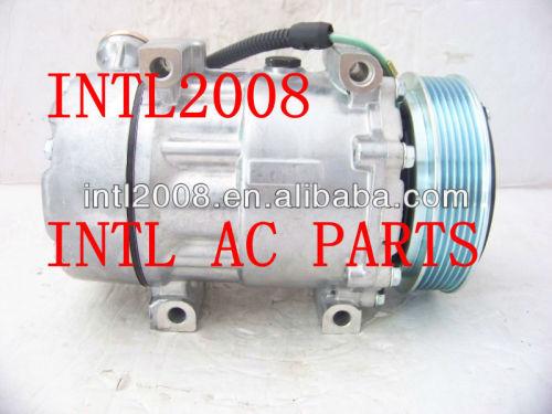 7v16 sanden compressor de ar condicionado para citroen c5 c8 expedição xsara peugeot 206 607 406 806 807 especialista 6453jf 9645306580