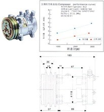 Condicionador de ar a/c compressor sd505 sd5h09 condicionador de ar para universal