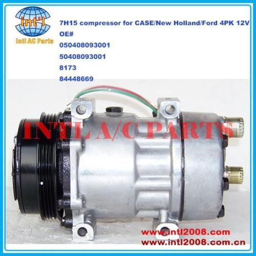Sanden 7h15 sd7h15 050408093001 50408093001 8173 84448669 auto compressor da ca para caso/new holland/ford