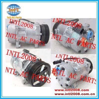 Sanden auto 7v16 sd7v16 para vw bora golf new beetle polo sharan compressor 1999-2005 tsp0155453 1111419 7h0820803b 67530