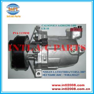 Cr-10 cr10 nissan tiida/latio/versa auto um/c compressor a42011a2901200 92600cj70a 92600-cj700