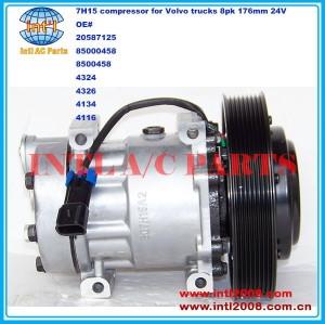 Sanden 7h15 709 sd709 sd7h15 auto ar condicionado compressor ac para volvo 20587125 85000458 8500458 sanden: 4324 4326 4134 4116