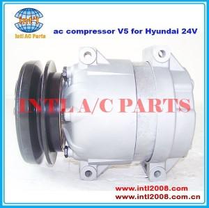 compressor de ar condicionado para delphi v5 para hyundai 24v 1pk polia