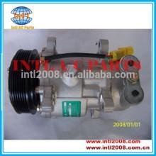 Sd6v12 auto compressor da ca para peugeot 206 307 aircon citroen c3 1.1 9646273880 1438f