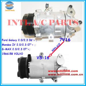 1435790 1543948 1566158 1674615 6g9119d629db sanden sd7v16 substituir vs-16 ac compressor ford galaxy/mondeo/s-max volvo v70/s80