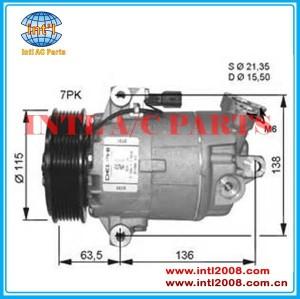 Auto ar condicionado compresseur para nissan qashqai/x- trail, renault scenic/megane 7711368525,8200356576 547051