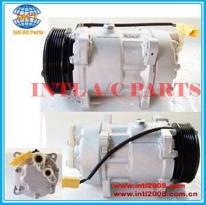 Sanden 7v16 6453lx 6453jn 6453lr 9646416780 1240 1228f 1805 1268 auto compressor da ca para citroen/fiat/lancia/peugeot