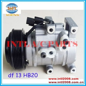 DF13 DF 13 China supply for Hyundai Hb20 HB 20 Sport 1.4 1.6 2013 2014 Air Conditioning compressor for Kia Soul Veloster Cerato auto ac pump