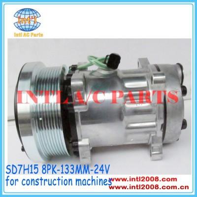 Sanden 7h15 4487 4726 compressor ac para 980h caterpillar carregadeira/caso 218-0234 141-9676 114-9487 176-9676 141-9616