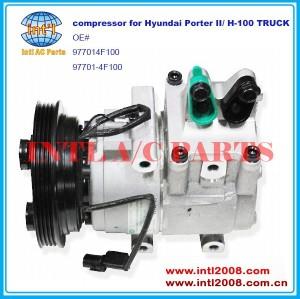 977014f100 97701- 4f100 para halla- hcc hs15 hs-15 para auto ar condicionado compressor ac para hyundai porter ii/h100 caminhão h-100 4pk