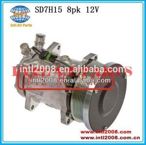 82016158/9847944 compressor ac w/embreagem sanden sd7h15 4738 8160 8260 8360 8560 ajustes para ford/trator new holland