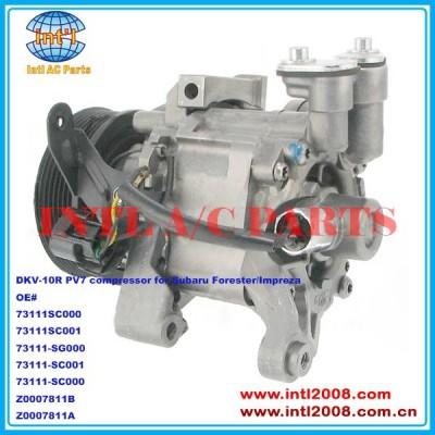 73111sc000 73111sc001 73111-sg000 73111-sc001 73111-sc000 z0007811a dkv-10r/dkv10r compressor para subaru forester/impreza