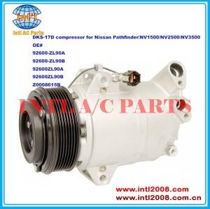 92600-zl90a 92600-zl90b 92600zl90a 92600zl90b z0008615b dks-17d auto compressor da ca para nissan pathfinder/nv1500/nv2500/nv3500