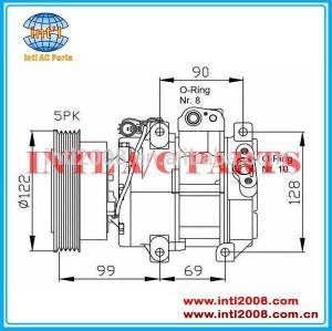 Ac auto um/c dv13 para rio cerato 1.5/1.6 crdi 2005- compressor 97701- 1g300 97701- 1g311 977011g300as