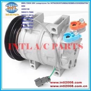 4456130 506211-7980 506011-9910 5062117980 5060119910 5060119751 China factory DKS-15CH auto ac compressor for HITACHI/HYUNDAI/KOBELCO/KOMATSU