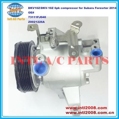 73111fj040 z0021226a dkv-10z/dkv10z auto compressor da ca para subaru forester 2014