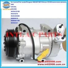 6453NL 6453YJ 9659232180 9645440480 9686061780 7V16 ac compressor para Lancia / Fiat scudo / Peugeot 406 / 607 / 807 / Citroen C5 / C8 / xsara
