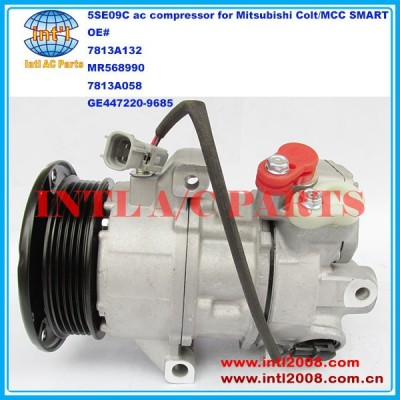 7813A132 MR568990 7813A058 447220-9683 447220-9685 5SE09C auto ac compressor para Mitsubishi Colt / MCC inteligente