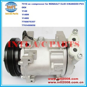 China factory 1148 1148H 1148G 7700875357 7701499858 SANDEN SD7V16 ac compressor for RENAULT CLIO II/KANGOO