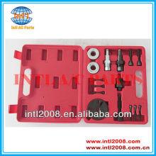 Ac compressor hub embreagem removedor instalador/remoção kit extrator placas de ferramentas