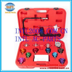 Auto Cooling System Radiator Cap Pressure Head Gasket Test Leak Detector /Tester Kit Pump Gauge Adapters