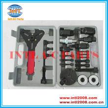 23pc ac compressor hub embreagem removedor instalador/remoção kit extrator placas de ferramentas