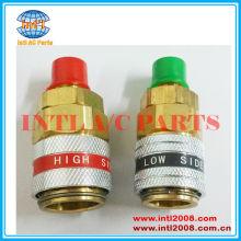 R134a 180 reta auto carro refrigerante engate rápido adaptador conjunto conector alta& baixo lado