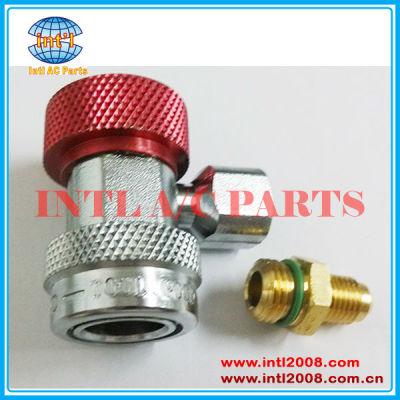 90 alto grau lateral r134a auto ac ar condicionado engate rápido ajustável adaptador conector