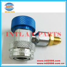 90 Degree Low Side Air Conditioning Port Quick Snap Coupler Connector R134a