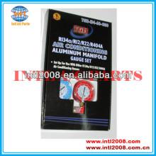 ar condicionado de alumínio manifold gauge ajuste r134a r12 r22 r410a