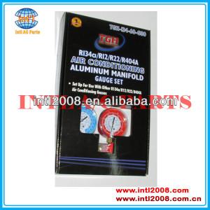 Air Conditioning Aluminium Manifold Gauge Set R134a R12 R22 R410a