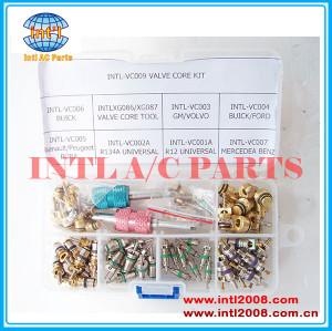 Ac ar núcleo de válvula kit incluem válvula core removedor instalador& ferramenta& core