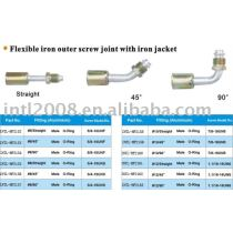 flexible iron outer screw joint with iron jacket cap wholesale and retail