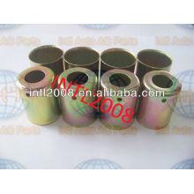 Ac auto( um/c) encaixe de mangueira ponteira de aço revestimento de aço da mangueira montagem mangueira virola 3/8