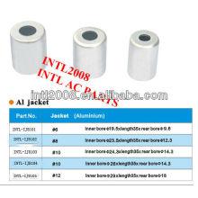 Universal ac de alta qualidade de alumínio cap mangueira montagem mangueira virola virola mangueira para ar condicionado automático tamanho #6 made in china