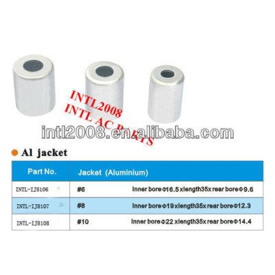 Alumínio de alta qualidade universal AC Cap mangueira mangueira virola montagem mangueira virola para o ar condicionado auto tamanho 5/16 made in China