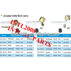 female flare barb hose fitting /connector/coupling with Al joint R12 high and low pressure value
