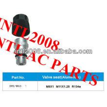 r134a auto condicionador de ar de alumínio assento de válvula para mangueira de assento de válvula mangueira adaptador conector da mangueira de engate da mangueira
