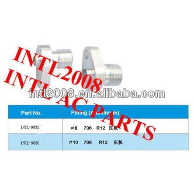 R12 auto ar condicionado acessórios de alumínio/encaixes de mangueira