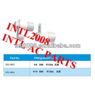 R134a auto ar condicionado acessórios de alumínio/encaixes de mangueira