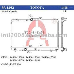auto condenser for Toyota corolla AE100