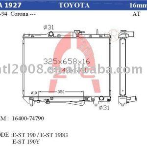 Condensador auto para Toyota carina ST190