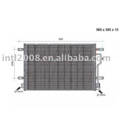 Auto condensador para audi/ 8e0 260 403 d