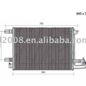 Condensador auto para Audi / 1K0 820 411 E / 1K0 820 411 G
