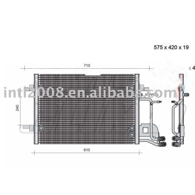 Auto condensador para audi/ 8d0 260 401 c/ 8d0 260 401 d