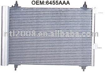 Auto condensador para peugeot 307/ china auto condensador fabricação/ china condensador fornecedor