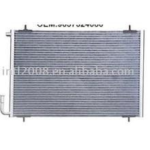 Auto condensador para peugeot 206/ china auto condensador fabricação/ china condensador fornecedor
