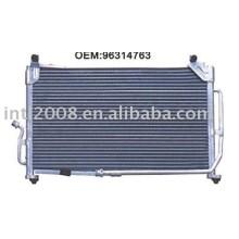 Auto condensador para daewoo matiz/ china auto condensador fabricação/ china condensador fornecedor