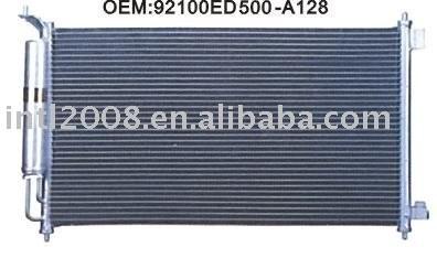 Auto condensador para nissan tida/ china auto condensador fabricação/ china condensador fornecedor